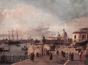 Rococo painting reproductions: Entrance to the Grand Canal- from the West End of the Molo 1735-40