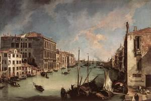 Rococo painting reproductions: Grand Canal    Looking East From The Campo San Vio