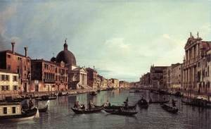 Famous paintings of Ships & Boats: Grand Canal Looking South West