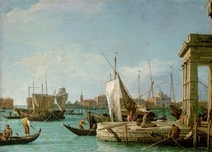 Rococo painting reproductions: La Punta Della Dogana   Custom Point