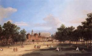 Rococo painting reproductions: London   The Old Horse Guards And Banqueting Hall  From St James S Park