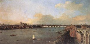 Rococo painting reproductions: London Seen From An Arch Of Westminster Bridge