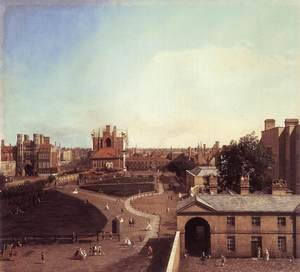 Rococo painting reproductions: London Whitehall And The Privy Garden From Richmond House