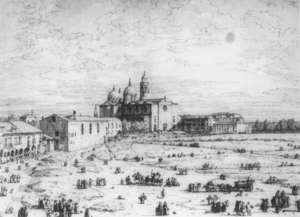 Rococo painting reproductions: Padua The Prato Della Valle With Santa Giustinia And The Church Of Misericordia   1