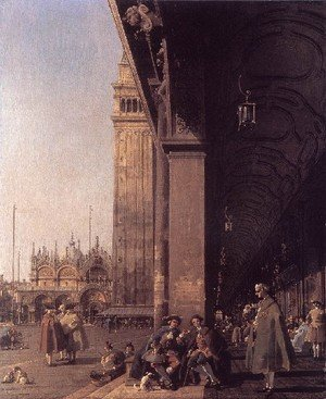 Rococo painting reproductions: Piazza San Marco   Looking East From The South West Corner