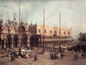 Rococo painting reproductions: Piazza San Marco   Looking South East