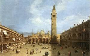 Rococo painting reproductions: Piazza San Marco Ii