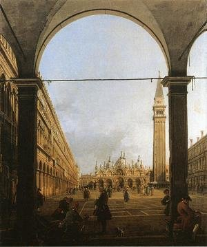 Rococo painting reproductions: Piazza San Marco Looking East From The North West Corner