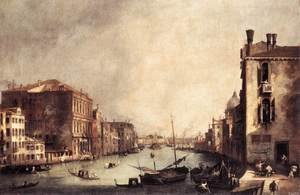 Rococo painting reproductions: Rio Dei Mendicanti   Looking South
