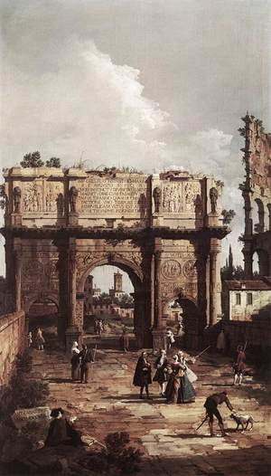 Rococo painting reproductions: Rome The Arch Of Constantine