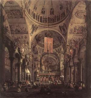 Rococo painting reproductions: San Marco   The Interior
