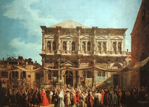 Rococo painting reproductions: The Feast Day Of St Roch