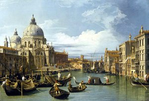 Rococo painting reproductions: The Grand Canal And The Church Of The Salute
