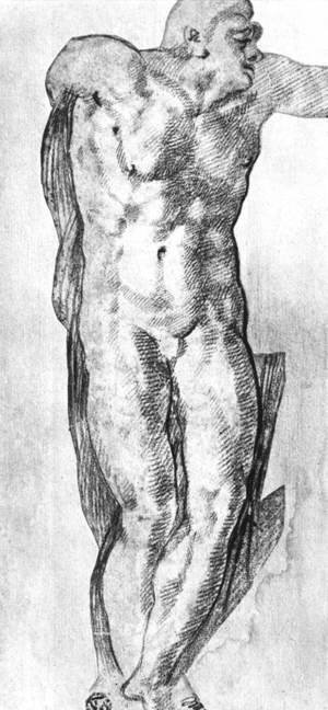 Reproduction oil paintings - Michelangelo - Study of a Nude Man