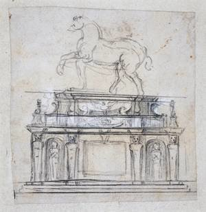 Design For A Statue Of Henry II Of France On Horseback