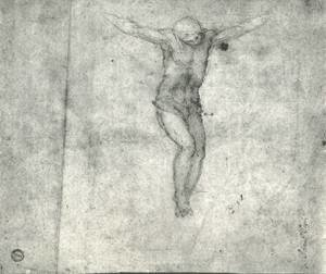 Famous Paintings in Ashmolean Museum, Oxford, UK: Study For A Christ On The Cross