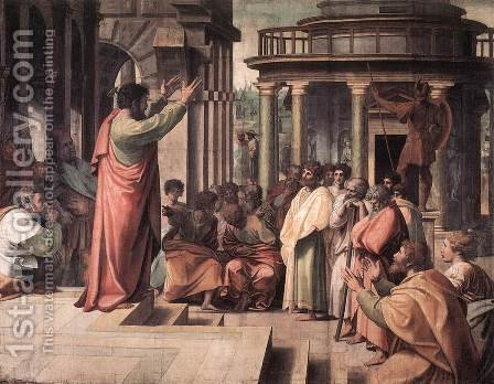 St Paul Preaching In Athens by Raphael - Reproduction Oil Painting