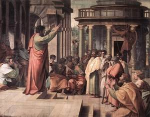 Reproduction oil paintings - Raphael - St Paul Preaching In Athens