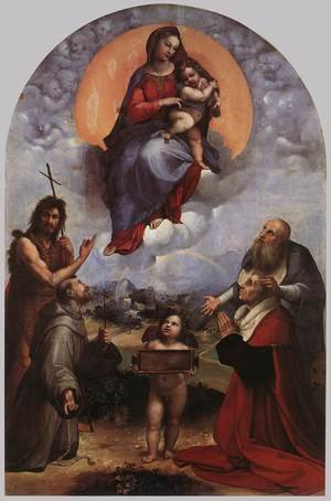 Reproduction oil paintings - Raphael - The Madonna of Foligno 1511-12