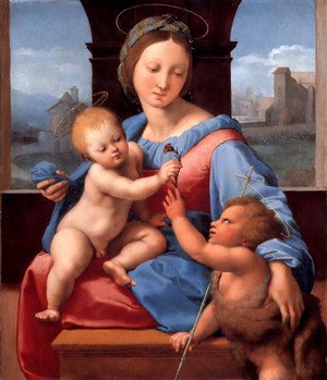 Reproduction oil paintings - Raphael - The Garvagh Madonna