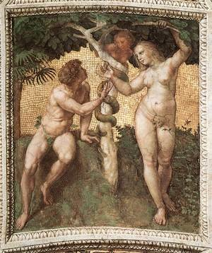 Reproduction oil paintings - Raphael - The Stanza Della Segnatura Ceiling  Adam And Eve