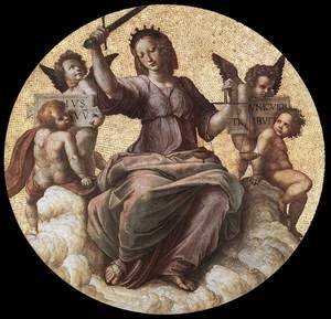 Reproduction oil paintings - Raphael - The Stanza Della Segnatura Ceiling  Justice