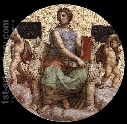 Raphael: The Stanza Della Segnatura Ceiling  Philosophy - reproduction oil painting