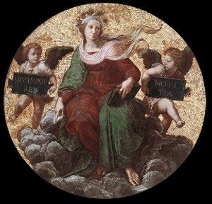 Reproduction oil paintings - Raphael - The Stanza Della Segnatura Ceiling  Theology
