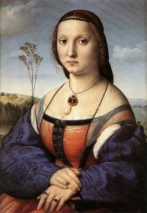 Reproduction oil paintings - Raphael - Portrait Of Maddalena Doni