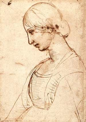 Reproduction oil paintings - Raphael - Waist Length Figure Of A Young Woman