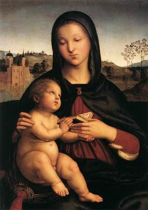 Reproduction oil paintings - Raphael - Madonna And Child