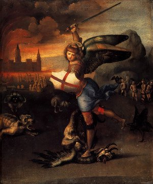Famous paintings of Fantasy, Mythology, Sci-Fi: Saint Michael And The Dragon