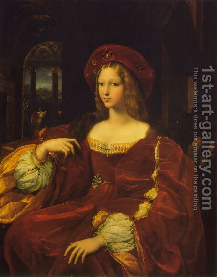 Raphael: Joanna Of Aragon - reproduction oil painting