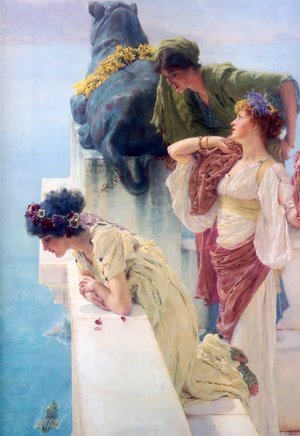 Sir Lawrence Alma-Tadema reproductions - A Coign Of Vantage 1895