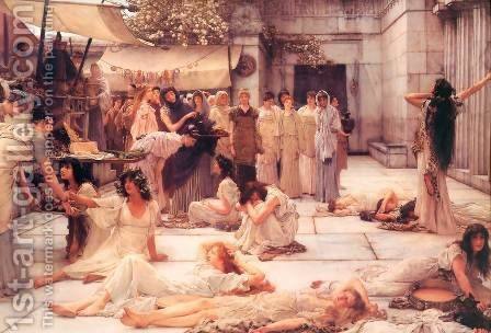 The Women Of Amphissa by Sir Lawrence Alma-Tadema - Reproduction Oil Painting