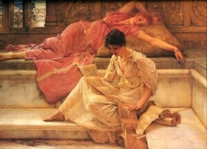 Reproduction oil paintings - Sir Lawrence Alma-Tadema - The Favourite Poet 1888