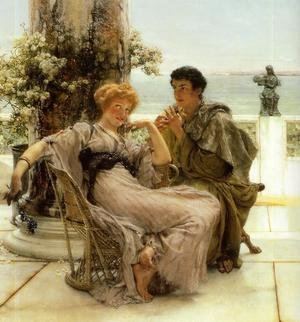 Reproduction oil paintings - Sir Lawrence Alma-Tadema - Courtship   The Proposal