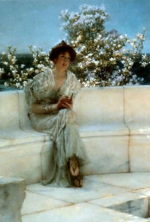 Reproduction oil paintings - Sir Lawrence Alma-Tadema - The Years At The Spring All Right With The World 1902