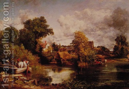 John Constable: The White Horse - reproduction oil painting