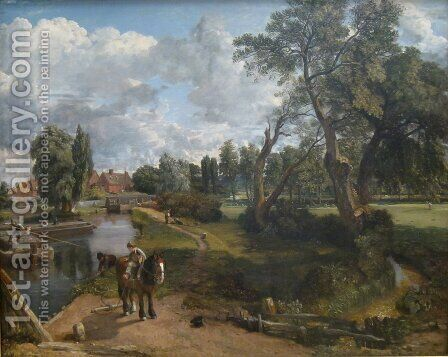Flatford Mill 1817 by John Constable - Reproduction Oil Painting