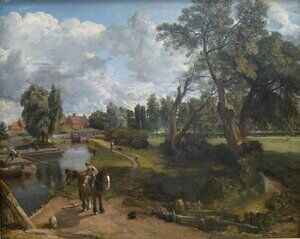 Reproduction oil paintings - John Constable - Flatford Mill 1817