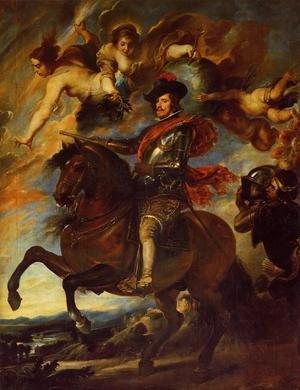 Famous paintings of Horses & Horse Riding: Allegorical Portrait Of Philip IV