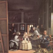 Oil painting reproductions - Diego Rodriguez de Silva y Velazquez: Las Meninas (The Maids of Honor) or the Royal Family. Detail. Self-Portrait