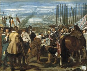Famous paintings of Horses & Horse Riding: The Surrender Of Breda