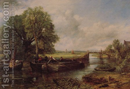 John Constable: A View On The Stour Near Dedham - reproduction oil painting
