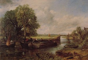 Famous paintings of Ships & Boats: A View On The Stour Near Dedham