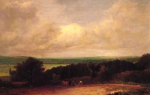 Reproduction oil paintings - John Constable - Landscape Ploughing Scene In Suffolk