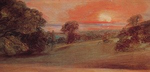 Reproduction oil paintings - John Constable - Evening Landscape At East Bergholt