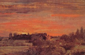 Reproduction oil paintings - John Constable - East Bergholt Rectory