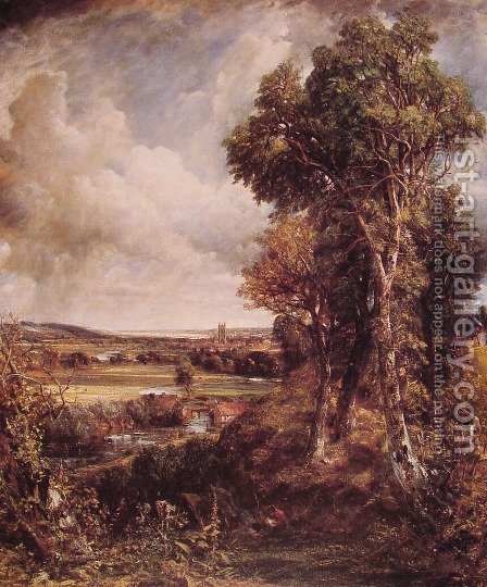 John Constable: Dedham Vale 1802 - reproduction oil painting